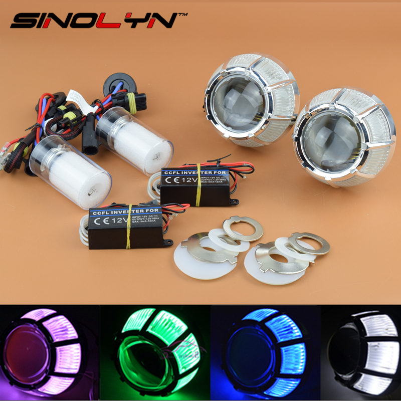 Car Motorcycle Styling Automobiles 2.0 Micro HID Bixenon Projector Lens Headlight With CCFL Angel Eyes Halo+ HID Xenon Bulbs DIY genuine fuel rail high pressure sensor regulator for nissan navara d40 2 5 dci 499000 6131 4990006131