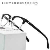 Acetate Prescription Glasses Frame Men Metal Round Eye Eyeglasses for Women Metal Myopia Optical Frames Spectacles Eyewear