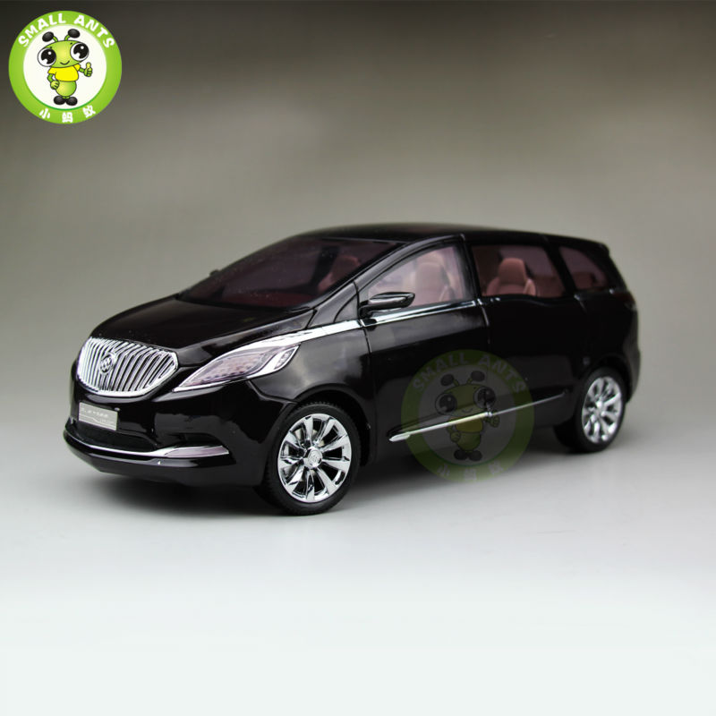 1:18 GMC Buick GL8 MPV Business Concept Diecast Car MPV Model Toys for gifts collection hobby Black 1 18 diecast model for buick riviera 2 2013 concept vehicle blue alloy toy car collection gifts
