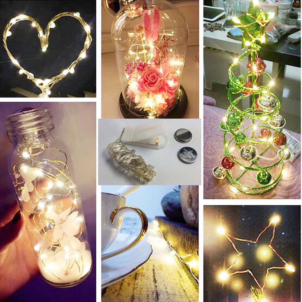 Warm White Leds Button Battery Led String Lights For Xmas Garland Party Wedding Decoration Christmas Tree Flasher Fairy Lamps