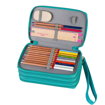 Cute School Pencil Case PU Leather Penalty Pencilcase 72 Holes 4 Layers Pen Bag Large Kids Boys Girls Pencil Box Pouch Supplies sketch school pencil case 72 holes penalty pencilcase large zipper pen bag four multi layers boy girls set box stationery pouch