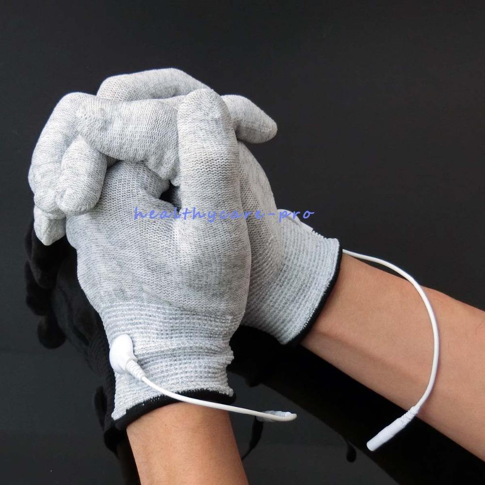 Wholesale 100 Pairs/Pack Electrode Conductive Massage Gloves Physiotherapy Electrotherapy Gloves Use With Tens Therapy Massage wholesale 100