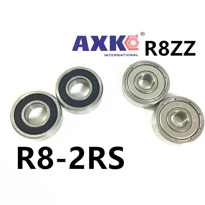 Free shipping deep groove ball bearing inch miniature bearing 1/2 x1-1/8 x5/16 ABEC3 R8ZZ R8-2RS EE4ZZ 12.7*28.575*7.938