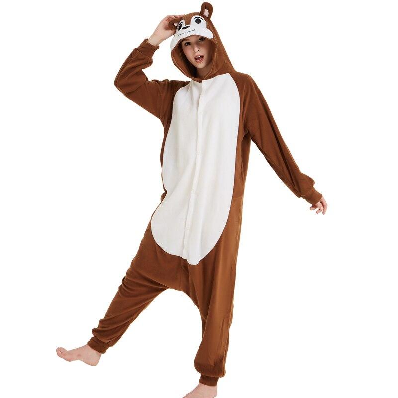 Unisex Adult Animal Squirrel Pajamas Cartoon Chipmunk Kigurumi Onesies Costumes Jumpsuits Christmas Gift (4)