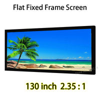 130 Diagonal Cinemascope 2.35:1 Flat Fixed Frame Projection Screen 1.2 Gain Quality Picture For Home Cinema Theater