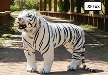 huge plush tiger toy simulation standing white tiger doll birthday gift about 110x70cm xf0721 simulation white tiger plush toy large 85cm prone tiger doll throw pillow toy birthday gift xmas gift d2583