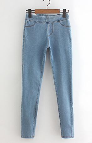 41c725338 Rihschpiece 2017 Outono Calça Jeans Leggings Mulheres Jeggings Calças de  Cintura Alta Magro Push Up Legging Do Punk Preto RZF1352