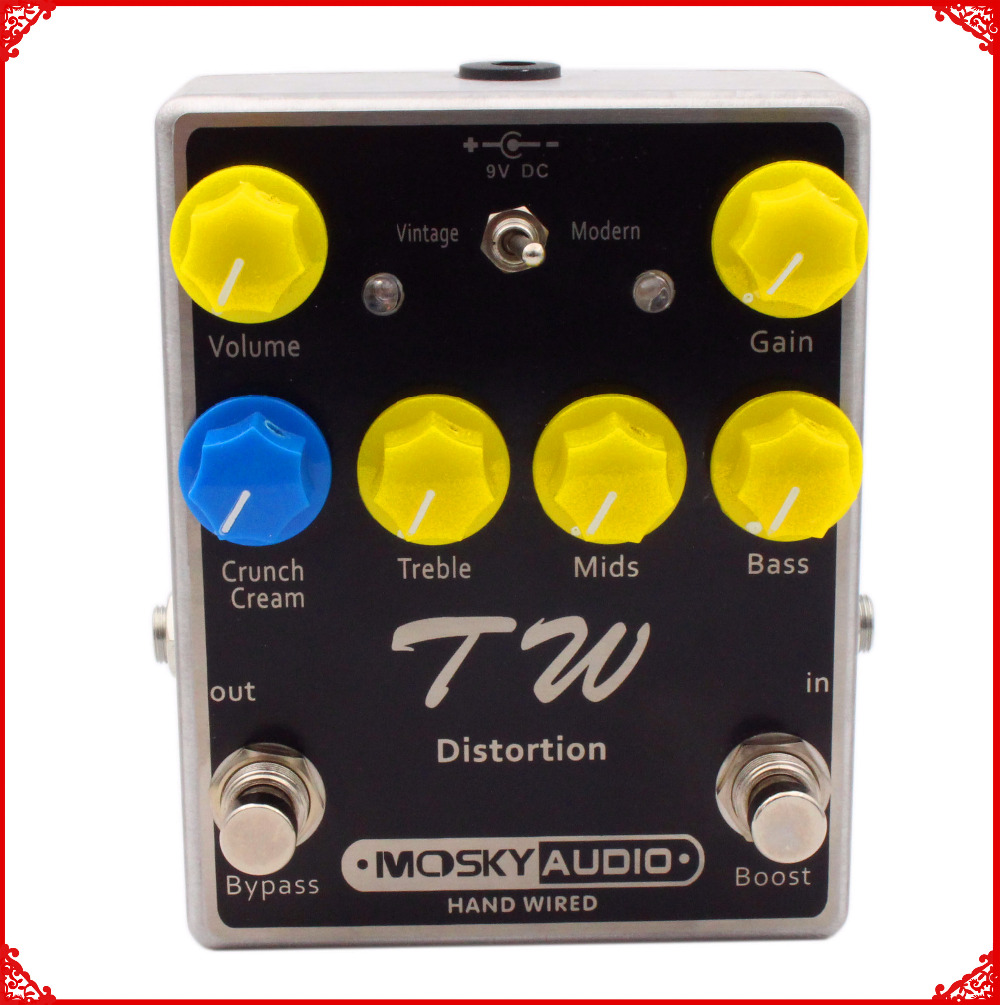 цена на Hand-Made Upgraded Guitar Effect Pedal High quality capacitors, resistors, IC,Distortion.Overdrive,