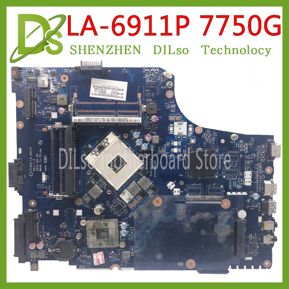 KEFU LA-6911P Motherbaord For Acer Aspire 7750 7750G Laptop Motherboard Without GPU MBRN802001 LA-6911P Original 100% Tested
