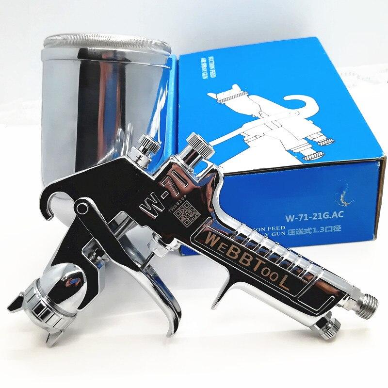 spray gun can be used for pressure bucket pressure pump HVLP W 71 Perfect atomization High