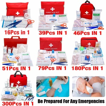 Portable 16-300Pcs Emergency Survival Set First Aid Kit for Medicines Outdoor Camping Hiking Medical Bag Emergency Handbag 3