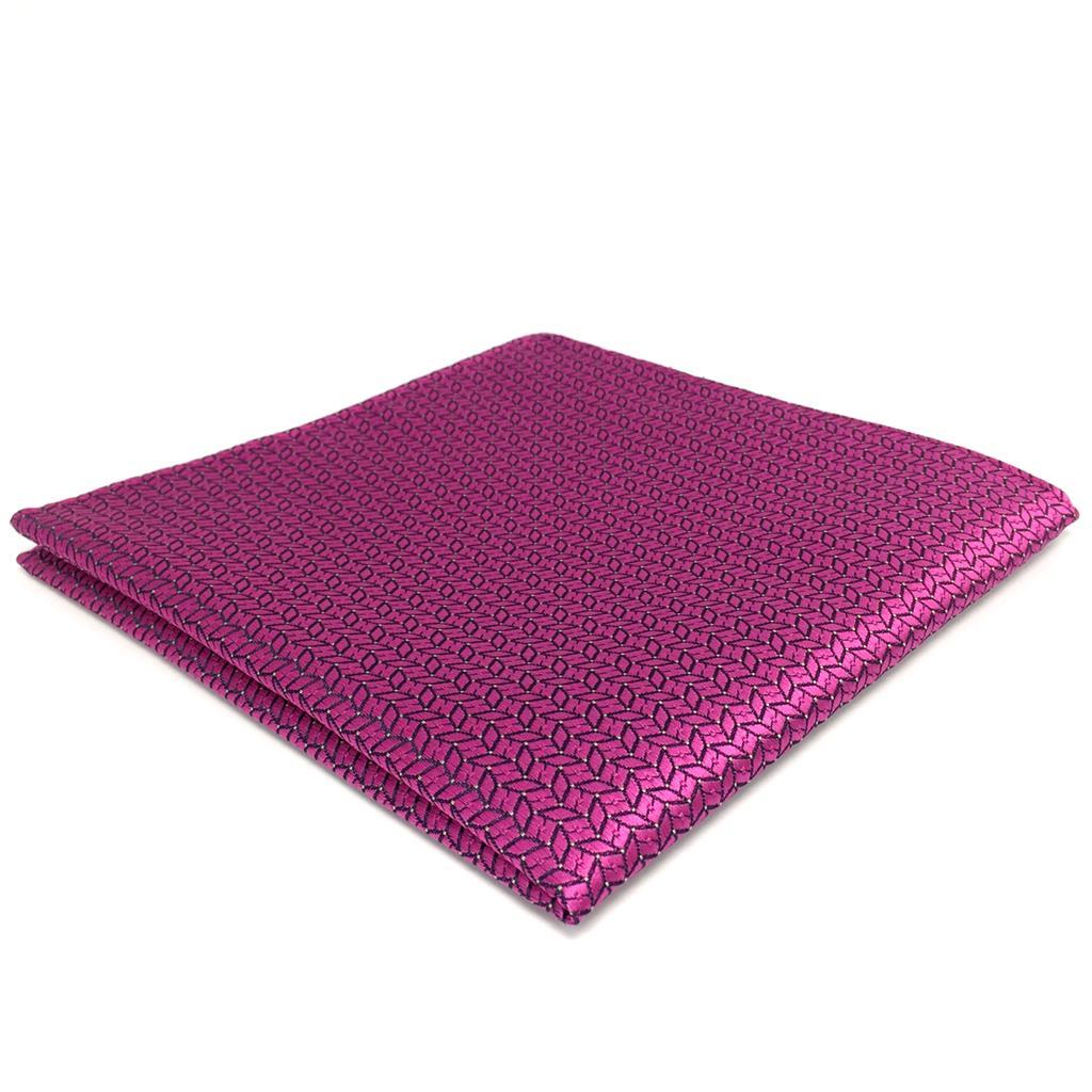FH11 Solid Pink Fushia Mens Pocket Square Wedding Fashion Handkerchief Silk Large 12.6