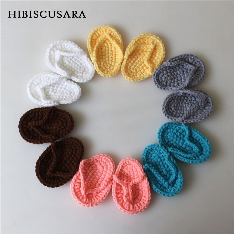 Adorable Infant Slippers Newborn Baby Boy Girl Knitted Shoes Photography Props Accessories Infant Handmade Prewalkers