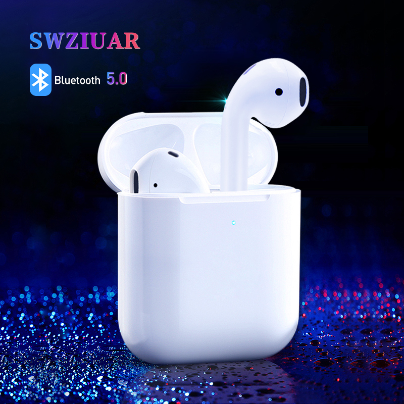High Quality 1:1 Wireless Bluetooth Earphones 2nd Mini Headphones for iPhone Mobile iPad Mac Watch with Charging Box Brand New
