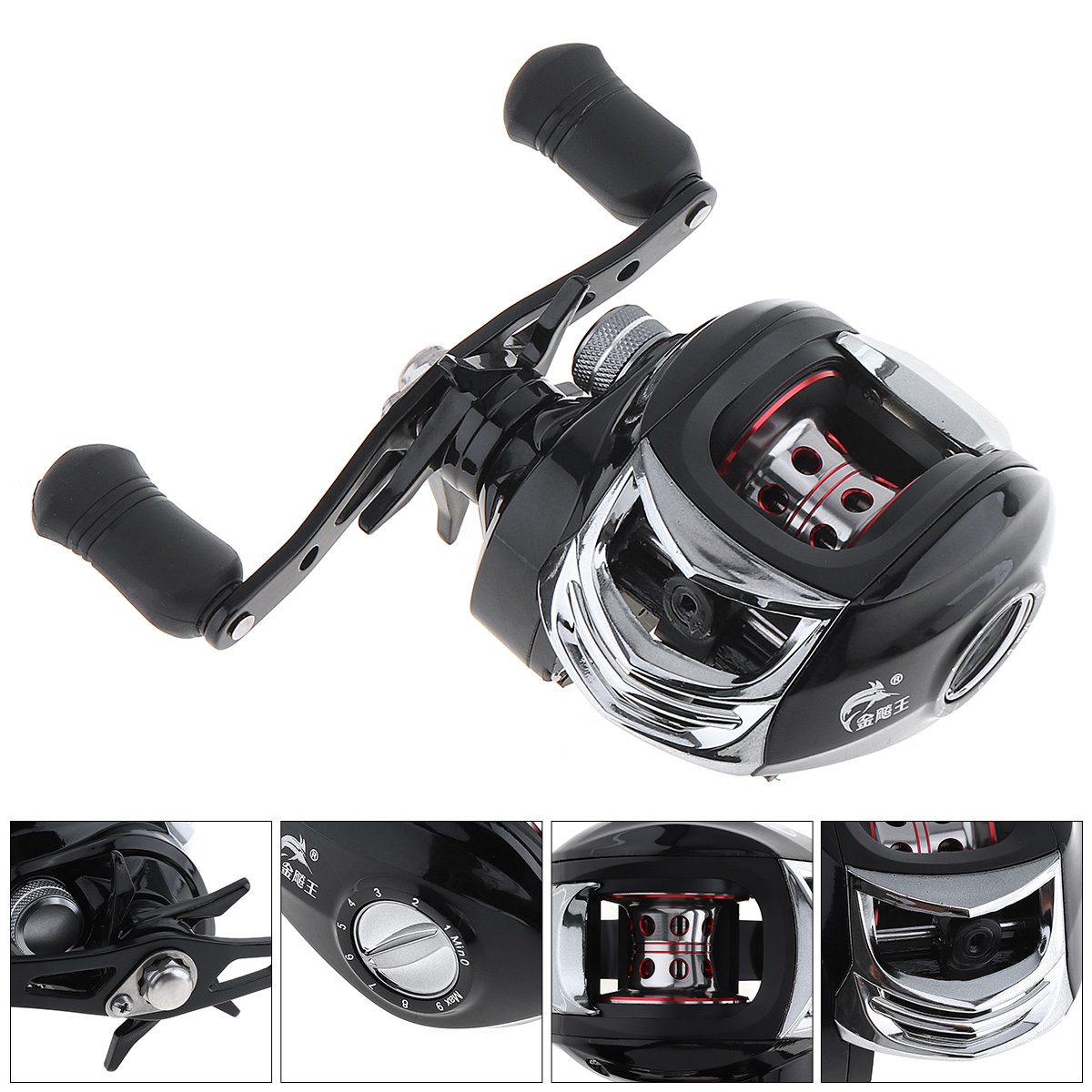 17+1BB Baitcasting Fishing Reel 7.2:1 Bait Casting Reels Right Hand Reel with One Way Clutch Fish Reel nunatak original 2017 baitcasting fishing reel t3 mx 1016sh 5 0kg 6 1bb 7 1 1 right hand casting fishing reels saltwater wheel