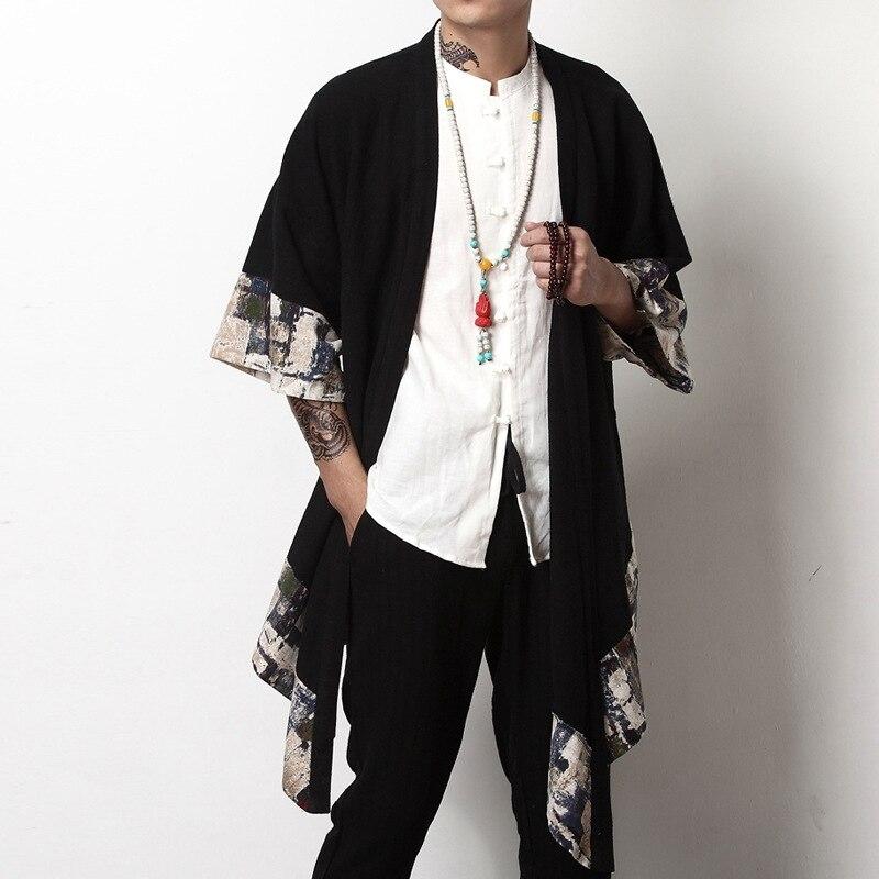 Japanischen kimono strickjacke männer haori yukata männlichen samurai kostüm kleidung kimono jacke herren kimono shirt yukata haori KK001