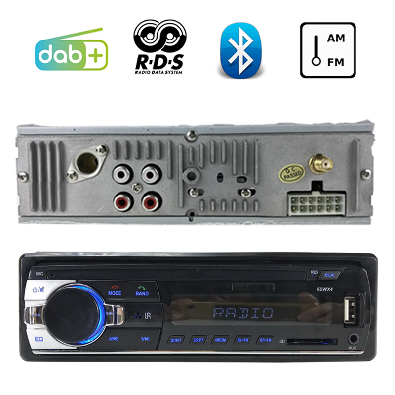 FM AM AUX DAB+ Bluetooth USB And SD Card Slot 2018 Newest 1 DIN RDS LCD Dispaly Car Audio MP3 Player Car Stereo Car Radio тумба neo 390 c slv