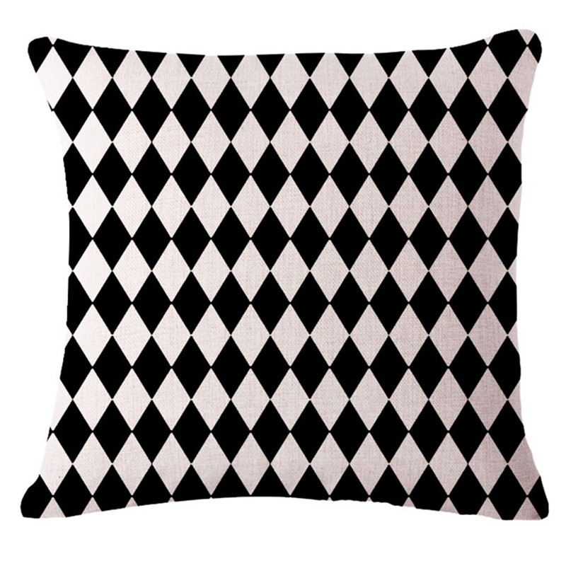 Decorative Throw Pillows Case Black White Geometric Cushion Cover For Sofa  Home Decor Almofadas Pillowcase 45x45cm In Cushion Cover From Home U0026 Garden  On ...