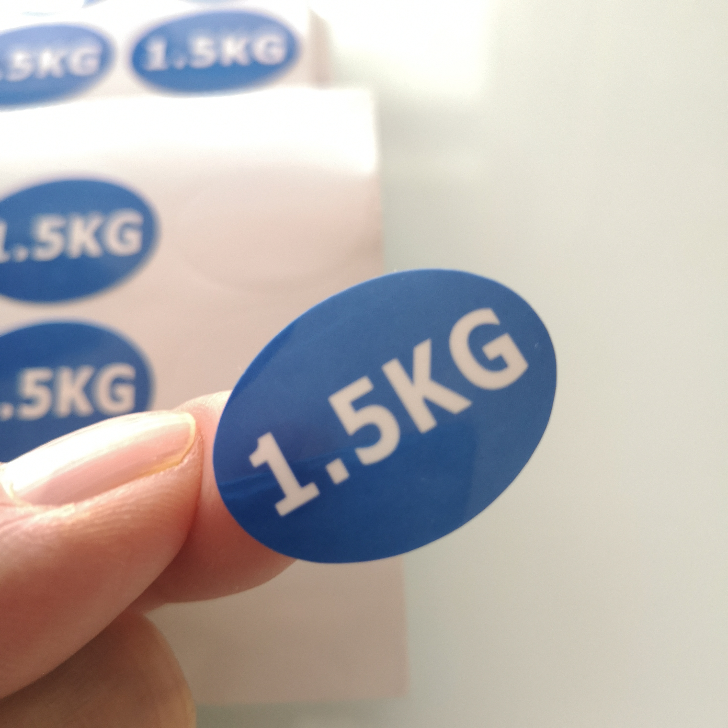 10000pcs 2.7x1cm 1.5KG Weight Number Self-adhesive Paper Label Sticker For Packing, Item No. FA42
