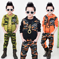 2017 new2015 Spring boys camouflage Parure clothing set kids clothes coat