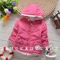 Nuevo 2015 Del Bebé Del Invierno prendas de Vestir Exteriores internacional muchachas de los bebés abajo cubre de algodón acolchado Nieve desgaste