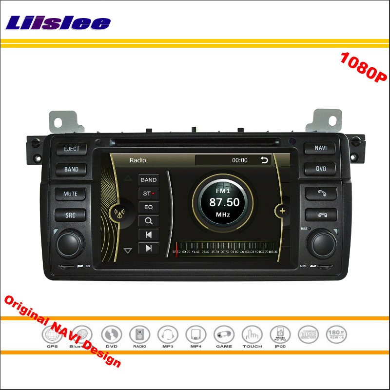 Liislee для BMW E46 M3 1998 ~ 2005 стерео Радио CD dvd-плеер GPS nav Navi навигация 1080 P HD экран Системы оригинальный Navi Дизайн