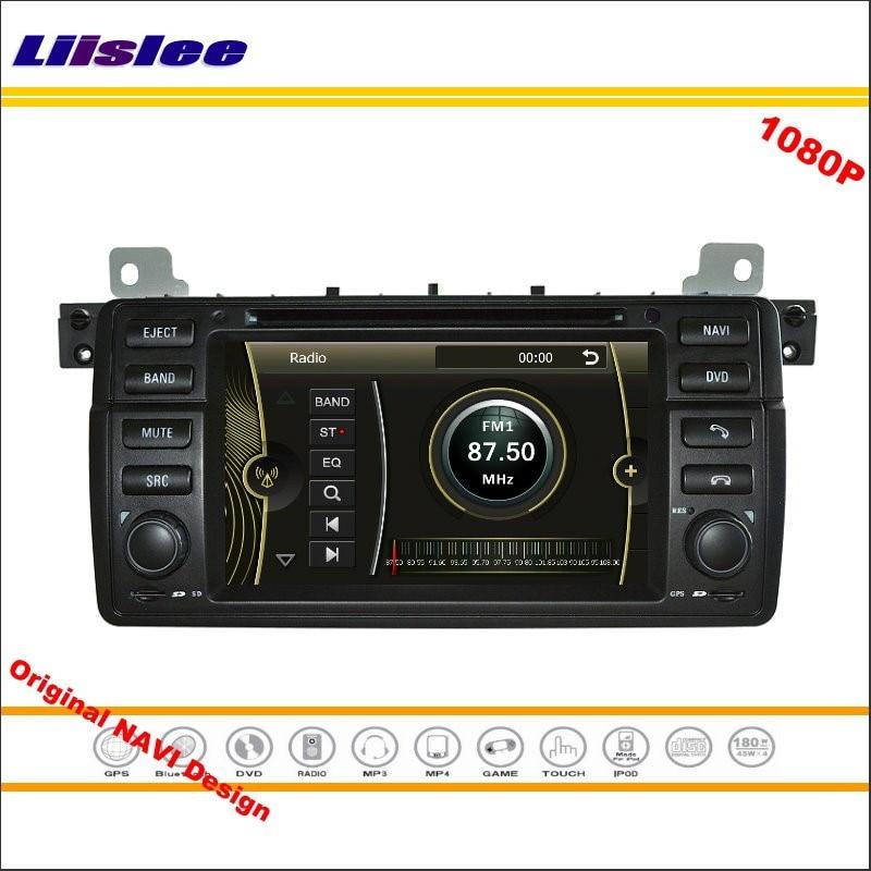 Liislee For BMW E46 M3 1998~2005 Stereo Radio CD DVD Player GPS Nav Navi Navigation 1080P HD Screen System Original NAVI Design