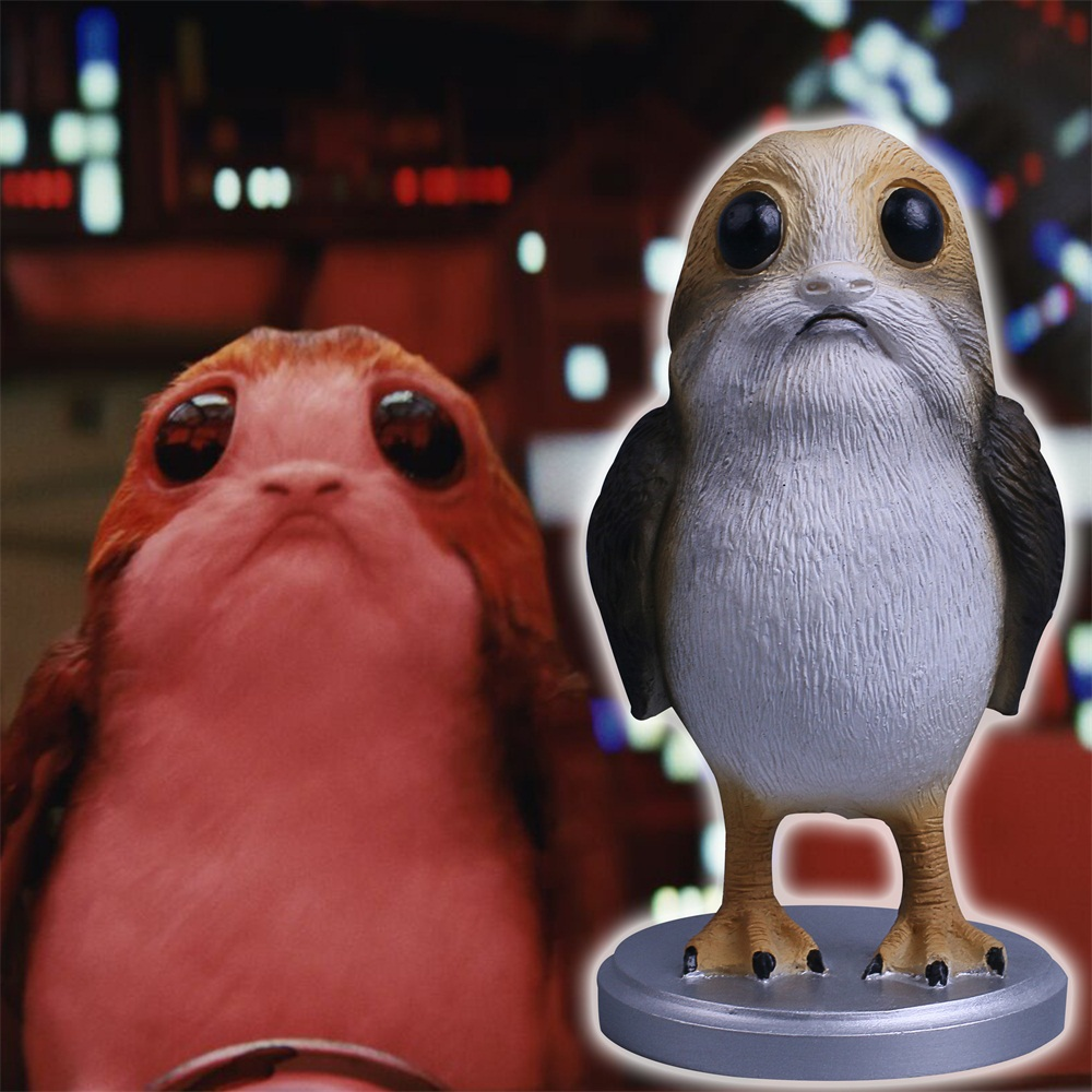 Star Wars The Last Jedi Porg Action Figure Cosplay Porg Toy Doll Christmas Gift Resin