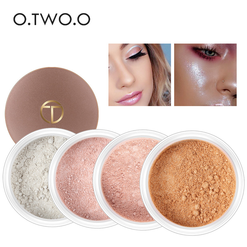 O.TWO.O Face Powder Foundations Oil-control Brighten Mineral Finish Pressed Powder Shimmer Matte Concealer Professional Make up