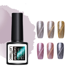 LEMOOC 8ml Platinum Cat Eye Gel Polish Soak Off Glitter Magnetic Lacquer 6 Colors Available Varnish Manicure Nail Art
