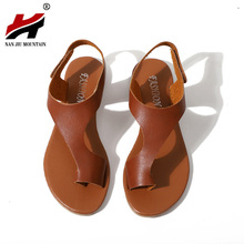NAN JIU MOUNTAIN Flat Sandals PU Women's Shoes Summer Flats