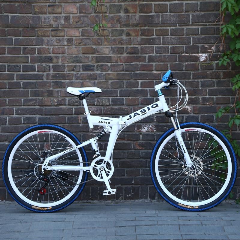 HTB1qYQ9c.D.BuNjt ioq6AKEFXa1 26 inch mountain bike 21 speed Folding mountain bicycle double disc brake bike New folding mountain bike Suitable for adults