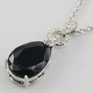 Черный оникс Белый Кристалл Циркон Серебро 925 пробы модные ювелирные изделия кулон TE499