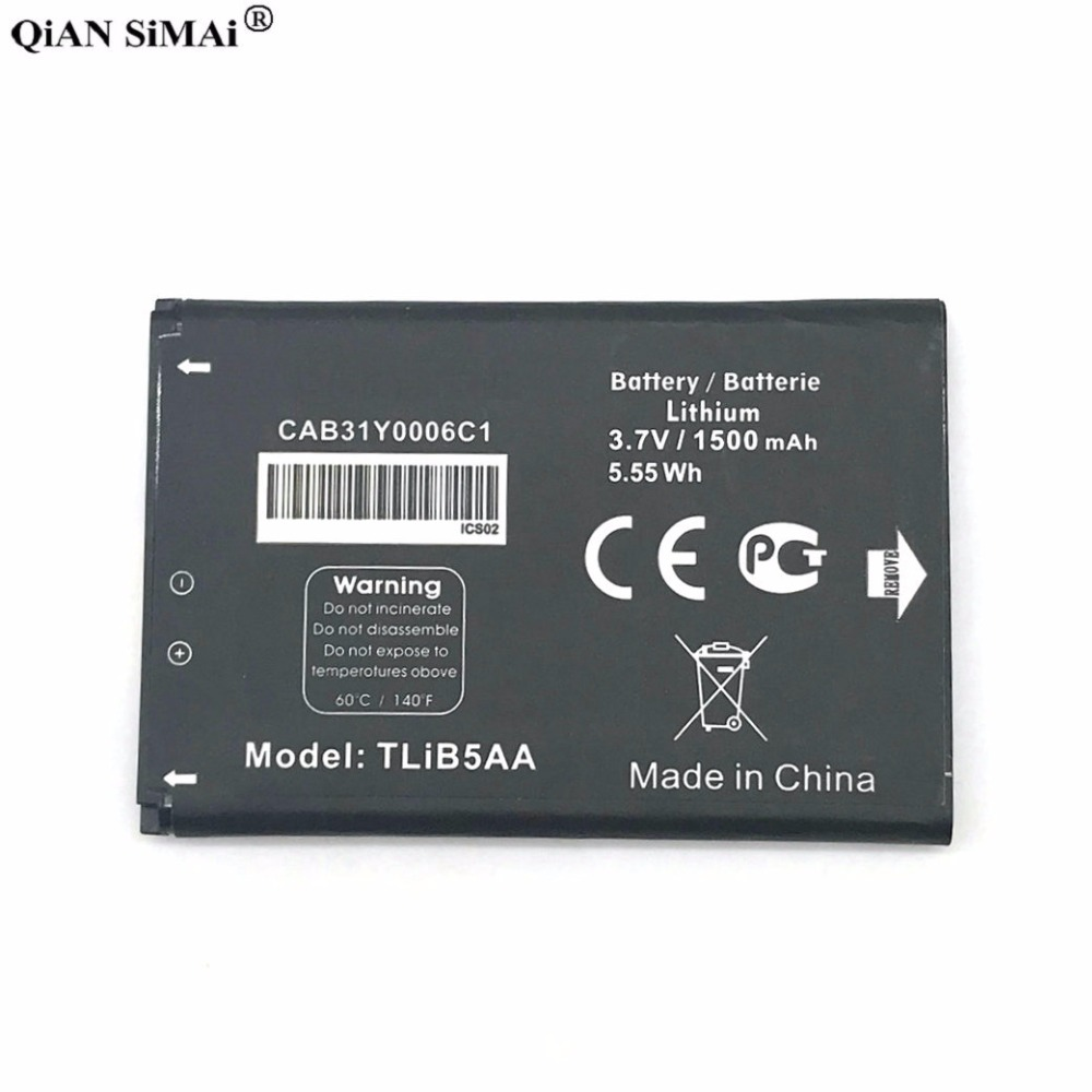 New High Quality TLiB5AA 1500mAh battery For Alcatel OneTouch 993 995 996 OT993 OT995 OT996 CAB31Y0006C1