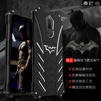 R JUST Case For Huawei Mate 10 Lite BATMAN Metal Aluminum Frame Protective Back Phone Cover