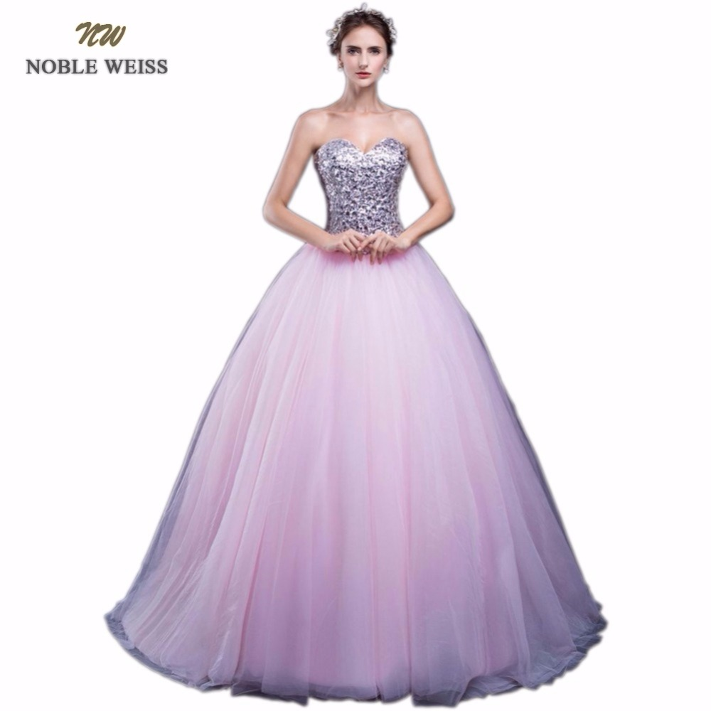 NOBLE WEISS Loverxu Elegant Blue Ball Gown Quinceanera Dress 2018 In ...