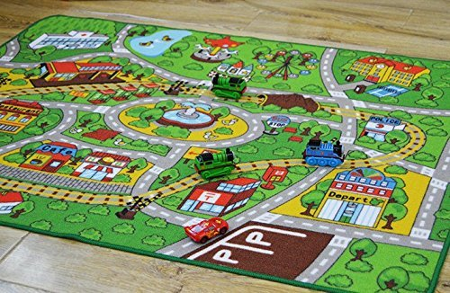 toy car lover popular carpets kids room city center street map carpet for home living room baby. Black Bedroom Furniture Sets. Home Design Ideas