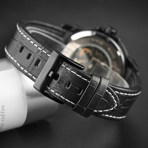 Keller & Weber Men Watch Mechanical Top Luxury Fashion Brand Leather Man Sport Watch Mens Automatic Watch Relogio Masculino Multan