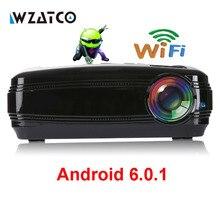 WZATCO CTL60 Android 6.0 WIFI Portable del Teatro Casero LLEVÓ 3D TV Proyector Full HD 1080 P HDMI 5500 lúmenes Proyector de Vídeo LCD Beamer
