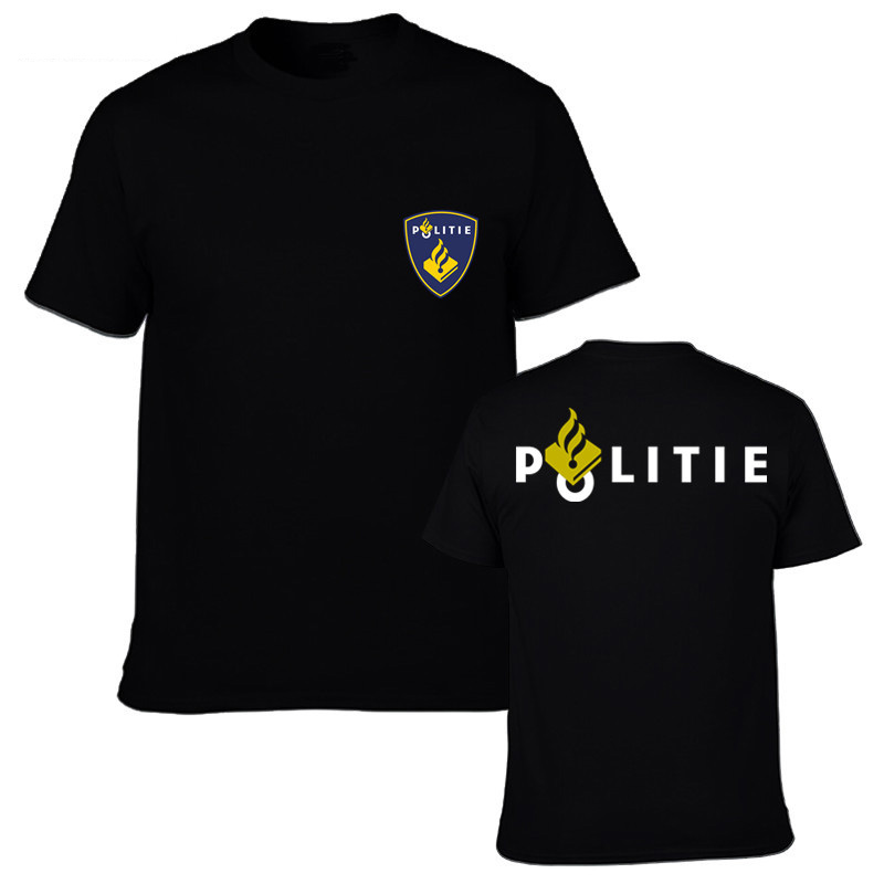 NEW Netherlands Politie Police Special Swat Unit Force Men   T     Shirt   Fashion Short Sleeve   T     Shirt   Tops Tees