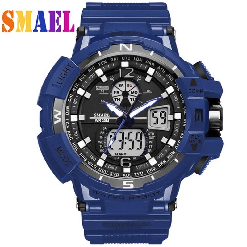 Luxury Brand G Style Shock Watch Military Men Sport Watches Digital 50M Waterproof Wristwatch Electronic Rubber Band Clock Male