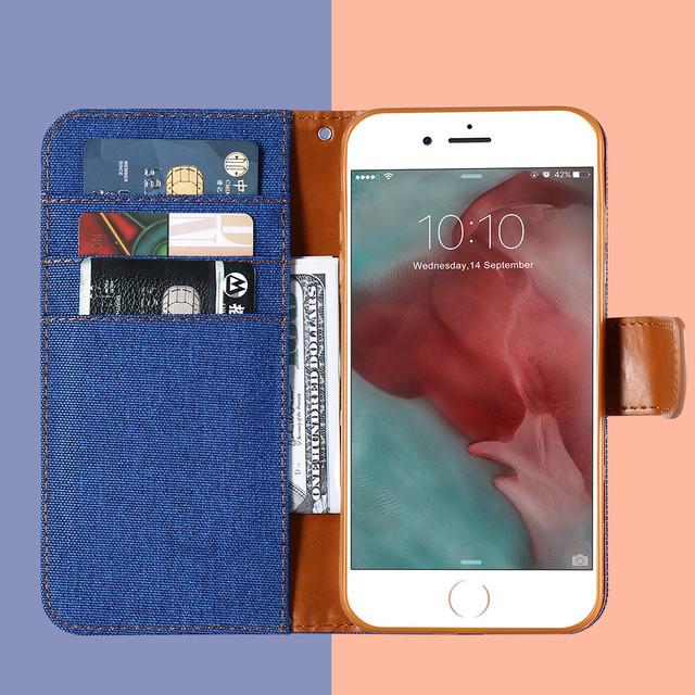 Fabric iPhone Flip Wallet Case