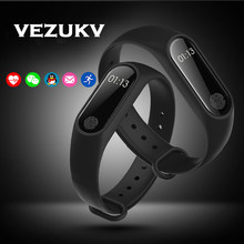 VEZUKV Nieuwe M2 Smart Horloge Band Messges Herinnering Bluetooth Smart Armband Fitness Sleep Tracker Polsband voor Android IOS telefoon(China)