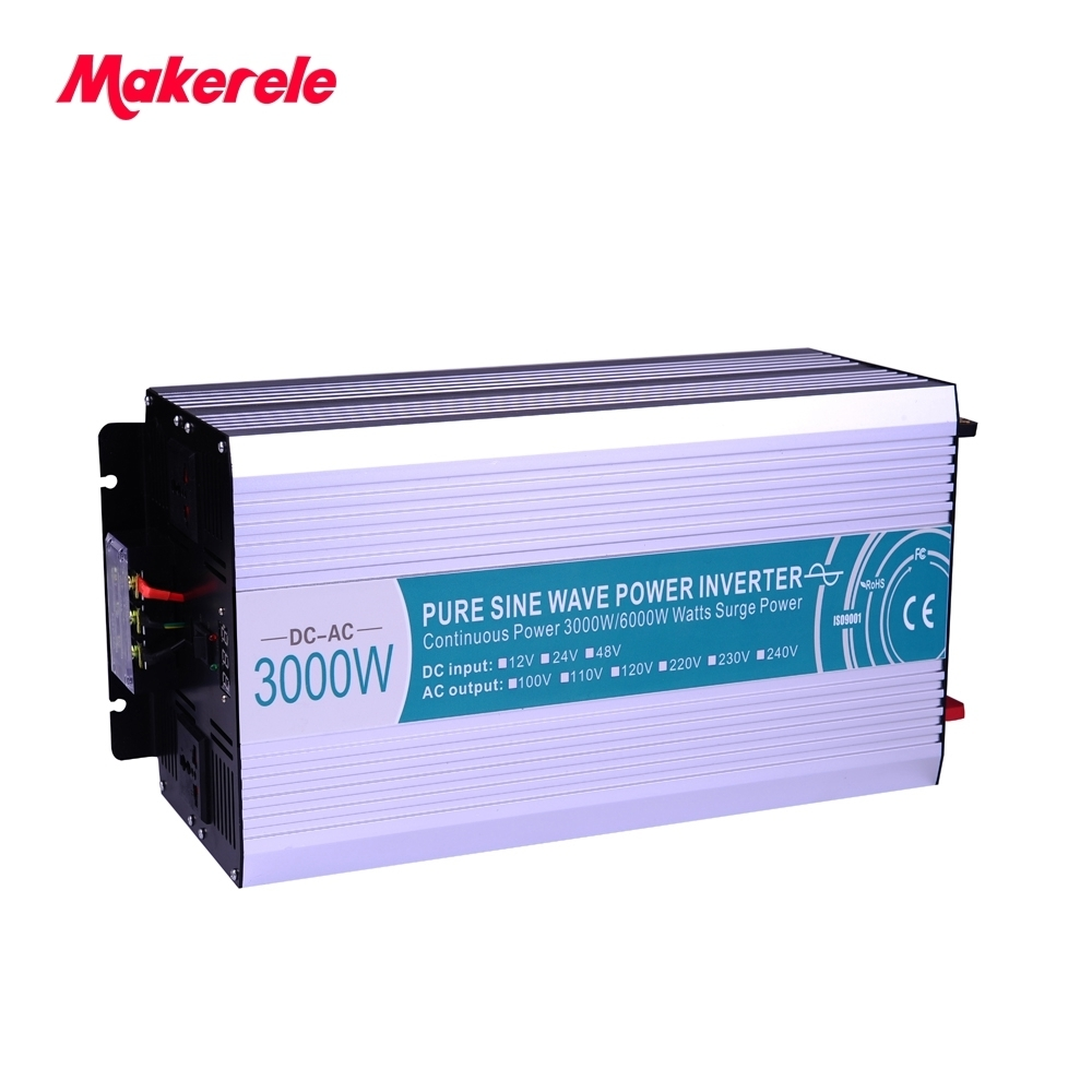 цена на Pure Sine Wave power inverter 12v 220v 3000w high quality off-grid converter 3000watt solar inverter Power Frequency MKP3000-122