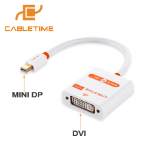 DP para Dvi Cabotime Ativo Adaptador Mini Cabo Macho para Thunderbolt Display Port 1.2 Dvi Fêmea Macbook e pro e air N012