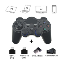 2.Four G Gamepad Android Wi-fi Joystick Controller Joypad with OTG Converter For PS3/ Sensible Telephone For Pill PC Sensible TV Field