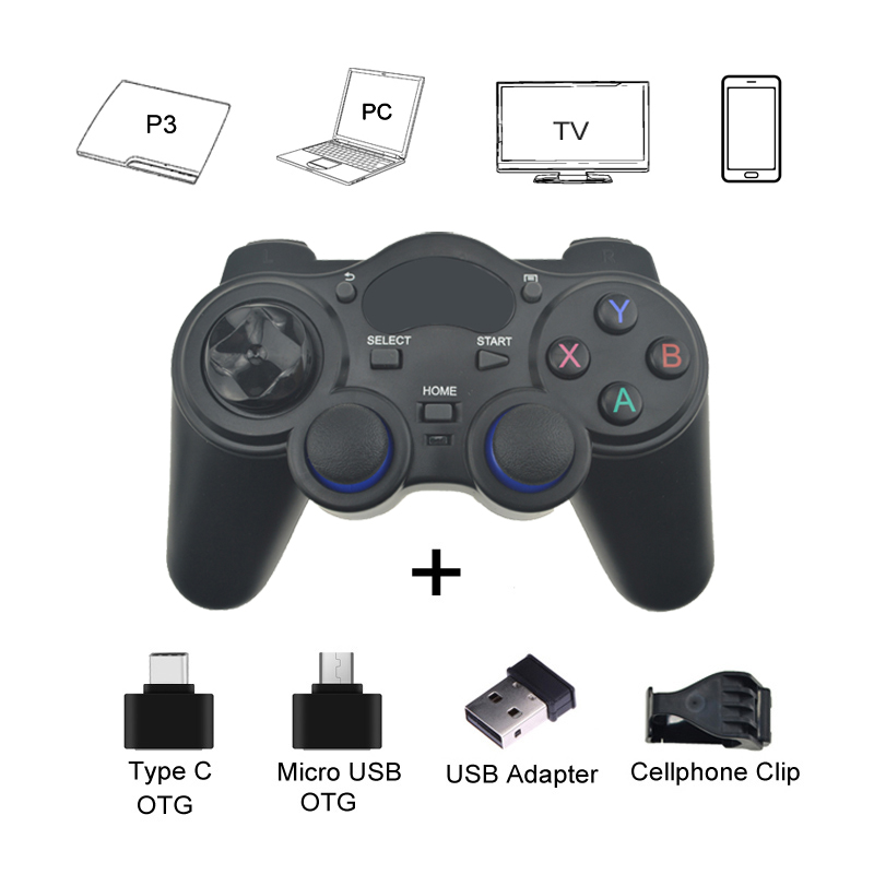 2.4 G Gamepad Android Wireless Joystick Controller Joypad with OTG Converter For PS3/ Smart Phone For Tablet PC Smart TV Box