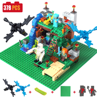 378pcs DIY Model Building Blocks Bricks Compatible Legoed Minecrafted City Sets Action Figures 4 In 1