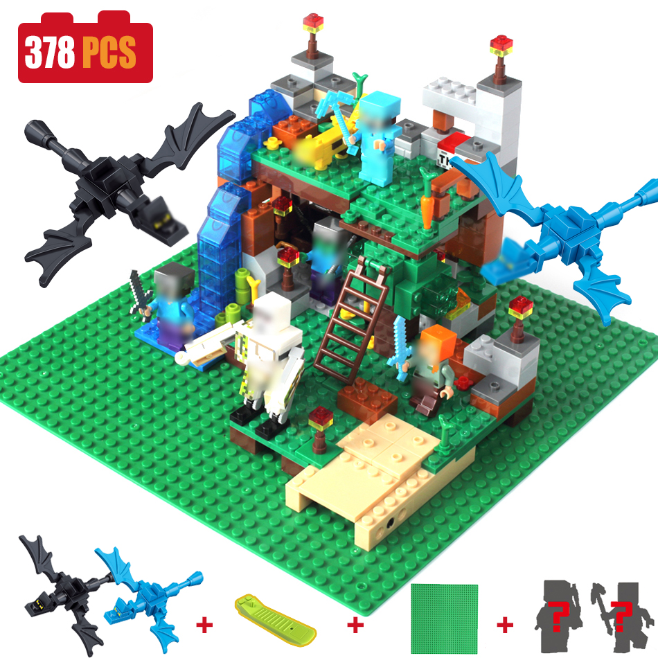 378pcs DIY Model Building Blocks Bricks Compatible Legoed Minecrafted City Sets Action Figures 4 in 1 Kids Educational Toys wange educational learning toys kids diy set toys cars plastic model kits building bricks blocks for boys 4 in 1 with motor
