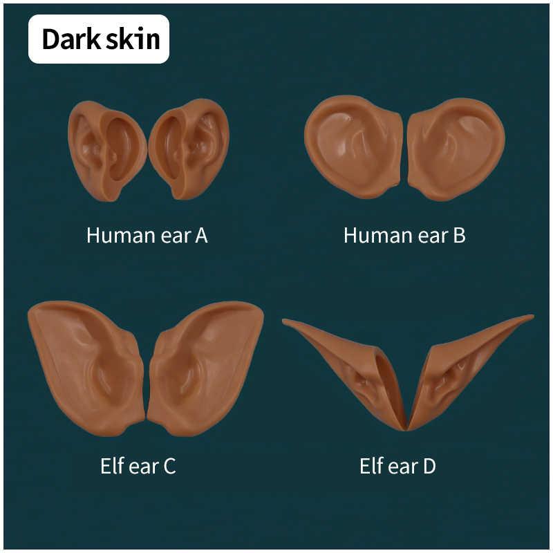 Orejas de muñeca blyth orejas humanas, orejas de elfo instaladas con arcilla, no se requiere corte piel blanca, piel bronceada, piel oscura, piel Natural